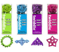 The Twiddle is made from 70 tiny interlocking pieces that snap, click, crackle, crunch, and bend as you fidget with them. These bendable, clickable fidgets are extremely addictive. Play with Twiddle s