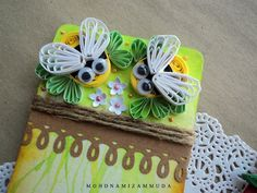 Quilled Bumblebee - by: miezam.blogspot.com