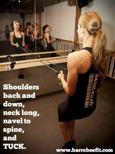 Barre Bee Fit thigh work- #fitness at the #barre. This posture is actually not easy.
