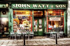 """John Watt & Son"" coffee shop, in Caldewgate, Carlisle, Cumbria_ England John Watt, Carlisle Cumbria, Outside Seating, Outdoor Seating, Coffee Store, Restaurants, Shops, England, Bistro"