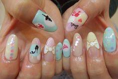 My kind of nails (; its barbie bitch!