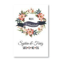 Kad kahwin Floral 31 | Kad Floral Cantik | Kad floral murah | Kad floral watercolor | Kad floral comel | Kad Floral poskad