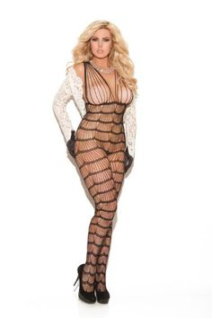 Vertical Striped Bodystocking Simply Elegant!