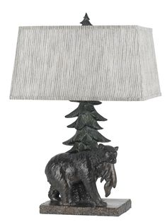 "Bear 25.5"" Table Lamp with Rectangular Shade"