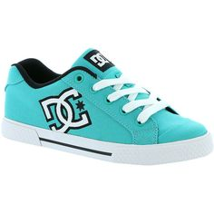 DC  Chelsea Skate Shoe ($55) ❤ liked on Polyvore featuring shoes, teal, dc shoes, dc shoes footwear, skate shoes, teal blue shoes y teal green shoes