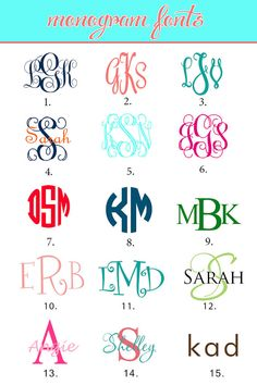 Monogram Initials Monogrammed-fonts-                                                                                                                                                                                 More