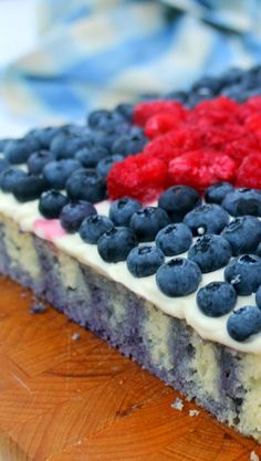 """""""Star of the Show"""" Blueberry Poke Cake A new take on an Old 50's and 60's Classic. Your Grandmother probably served a version of this up at her Church Potluck and the Oohs and Aahs still follow. Truth is it is about as easy a DIY project as it gets. Store bought cake mix and a few pokes with a chopstick. You will be the STAR OF THE SHOW!"""