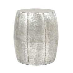 Hammered Drum End Table
