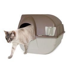 Cat Litter Box Automatic Self Cleaning Kitten Omega Paw Roll 'n Clean Regular #OmegaPaw