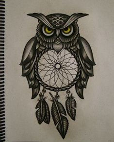 Sketches Of Owl Tattoos Owl filter of dreams by frah Atrapasueños Tattoo, Tatoo Art, Tattoo Quotes, Clock Drawings, Owl Tattoo Drawings, Future Tattoos, New Tattoos, Cool Tattoos, Tatoos
