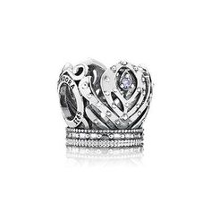 PANDORA Disney Anna's Crown with Purple CZ Charm - Disney Charms