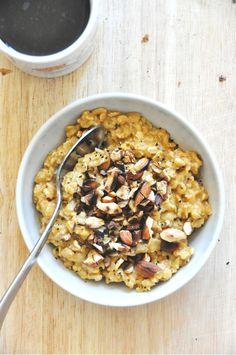 creamy pumpkin oats minimalist baker