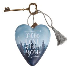 1003480082 Lost Without You Art Heart- Art Hearts is a curated and unique collection of heart sculptures that offers artistic ways to express love #love #collectable #gift