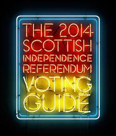 3D NEON / Scottish referendum on Behance