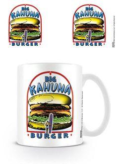 Taza Big Kahuna Burger. Pulp Fiction Estupenda taza fabricada en material de cerámica y 100% oficial y licenciada con la imagen de la franquicia inventada por Quentin Tarantino Llamada Big Kahuna Burger vista en el film de Pulp Fiction.