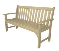 "Recycled Plastic Vineyard 60"" Bench By Polywood Frame Color: Sand, 2015 Amazon Top Rated Benches #Lawn&Patio"