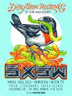 We are excited to announce our 2015 SXSW Showcase! We'll be back in Austin this March to host our second showcase and celebrate our anniversary! Join us on Wednesday March at Bungalow, 92 Rainey Street for bands, booze and bites c/o Dine Alone Foods. 10 Year Anniversary, Alone, Dining, Flyers, Bungalow, Wednesday, 18th, Bands, Join