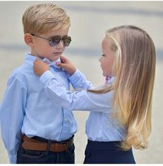 Kiddie Couples Fixing His Tie