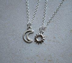 Sun and Moon Friendship Necklace   ShopBenji on Etsy
