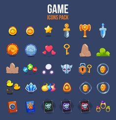 Game icons pack on behance i icon, icon set, game ui design, game ite Bg Design, Flat Design Icons, Icon Design, Game Gui, Game Icon, Icon Set, Icon Icon, Board Game Design, Game Ui Design