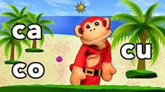 Sílabas ca co cu - El Mono Sílabo - Videos Infantiles - Educación para N...