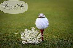 Wedding Rings | Golf Course Wedding www.twiceaschicweddings.com