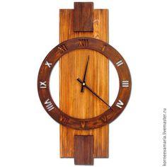 Часы для дома ручной работы. Ярмарка Мастеров - ручная работа. Купить Старое дерево №4. Handmade. Коричневый, часы настенные