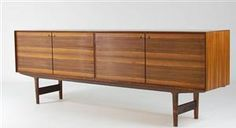 Lauritz.com - Furniture - Fredrik Kayser. Rosewood sideboard, model Hertug, 1950's/1960's - NO, Oslo, Sannergata 3