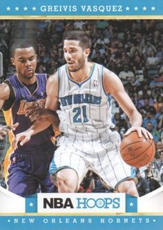 2012-13 Panini NBA Hoops Basketball #64 Greivis Vasquez New Orleans Hornets Trading Card by Hoops. $1.99. 2012 Panini Group trading card in near mint/mint condition, authenticated by Panini Authentic