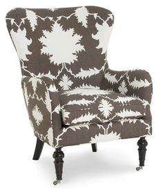 CR Laine's Cullen chair in Schumacher's Persia Cocoa is a small scale, multifunctional piece that complements any décor style.