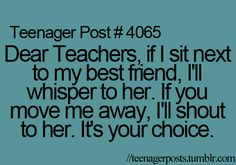 @lexi Mickelson We do this in English!!! Or in any class actually... ;P