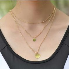 Three Layer Gold Charm Necklace Three Layer Gold Charm Necklace  Price Firm Unless Bundled. Jewelry Necklaces