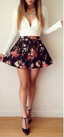 Cheap Fashion V Neck Long Sleeves Mini Floral Print Ball Gown Mini Dress_Dresses_Womens Clothing_Cheap Clothes,Cheap Shoes Online,Wholesale Shoes Komplette Outfits, Spring Outfits, Party Outfits, Spring Dresses, Cheap Outfits, Teenage Outfits, Night Outfits, Skirt Outfits, Cute Dresses