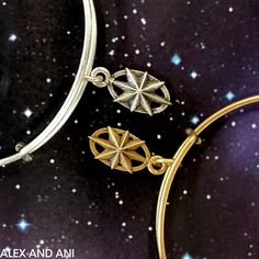 ALEX AND ANI CHARITY BY DESIGN NORTH STAR CHARM BANGLE! BENEFITING DANA-FARBER CANCER INSTITUTE.