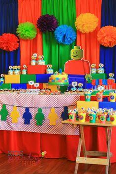 Lego Dessert and Candy Buffet