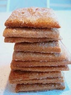 Deceptively simple– these cookies are packed with flavor… Swiss Cinnamon Crisps. Deceptively simple– these cookies are packed with flavors of cinnamon, lemon zest and brown sugar. And no one can eat just one:) Cookie Desserts, Just Desserts, Delicious Desserts, Dessert Recipes, Yummy Food, Swiss Desserts, Snack Recipes, Dinner Recipes, Yummy Cookies