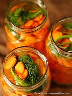 Pickled carrots in brine - Fit Pickled Carrots, Meals In A Jar, Canning Recipes, Coleslaw, Kimchi, Pickles, Cucumber, Good Food, Food And Drink