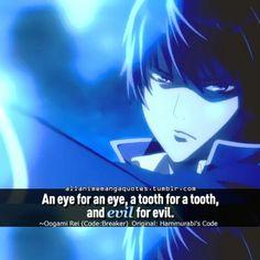Anime Quote: Code: Breaker