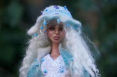 OOAK Fantasy Figure Sculpture, Polymer Clay Art Doll IADR