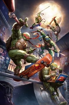 Teenage Mutant Ninja Turtles variant cover by Dexter Soy, colours by Alan Quah * Teenage Ninja Turtles, Ninja Turtles Art, Tmnt Wallpaper, Ninja Turtle Birthday, Turtle Party, Retro Arcade, Cultura Pop, Carnival Parties, Carnival Birthday