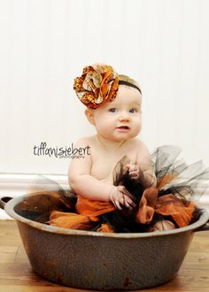 Halloween Tutu, Black and Orange Tutu, Halloween photo prop, Photo Prop, Baby Toddler Child Tutu. $13.75, via Etsy.