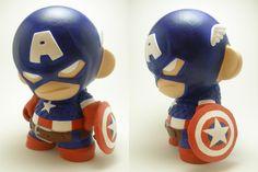 captain america customized figure   captain-america-custom-munny-designer-toy