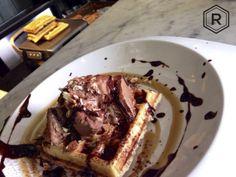 Waffle Snickers. Desayunito en Reina