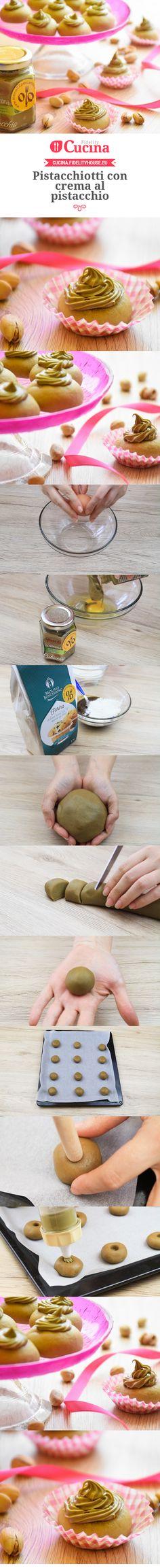 Pistacchiotti con crema al pistacchio
