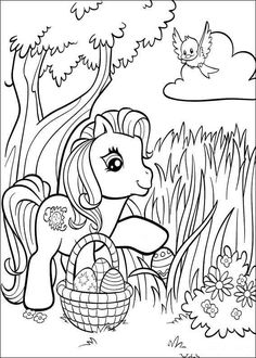 EASTER COLOURING: MY LITTLE PONY EASTER COLOURING PICTURE