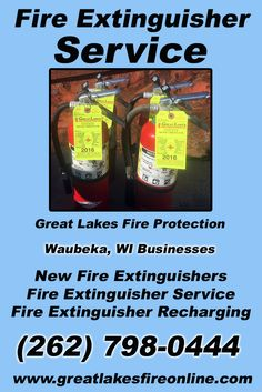 Fire Extinguisher Service Waubeka, WI (262) 798-0444 Call the Experts at Great Lakes Fire Protection.. We are the complete source for Fire Extinguisher Service for Local Wisconsin Businesses We would love to hear from you.. Call us Today!