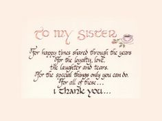 Short Sister Quotes In Loving Memory Of My Sister  Quotes  Pinterest  Poem .