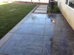 Lancon Plus, Temecula Ca. Stamped Concrete Roman Slate Texture w/ sand finished border