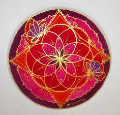 Mandala art Creating Transformation mandala by HeavenOnEarthSilks, $32.00