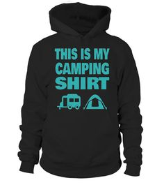 This is my camping t-shirt is a great t-shirt for a vacation, the beach, mountains, road trip, camping or unknown adventures. Jump into your RV, car, truck, or minivan and drive on the open road with your family, friends or buddies.   This fun novelty top is a perfect gift for lovers of camping, RVing in your recreational vehicle around the country, or any other man, woman, or child you can think of. Take your family, friends or kids with you!